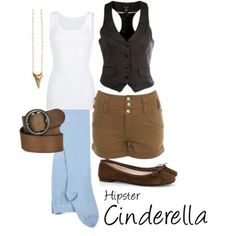 Hipster Cinderella, I can alter this for the warmer weather for Halloween