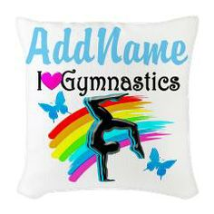 Give a personalized Gymnastics Gift for that special Gymnast. For more terrific ideas, visit www.cafepress.com/SportsStar #IloveGymnastics #WomensGymnastics #GymnastGift #PersonalizedGymnast #CustomizedGymnastics
