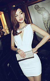 Women's Deep-V Bodycon Dress with Beaded Collar lightinthebox.com