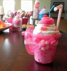 Sippy Shake - Burp Cloth, Baby Cap & Sippy Cup Milkshake - Unique Baby Shower Gifts and Favors cute boy girl neutral. $16.50, via Etsy.