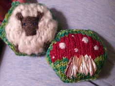 Fluffy sheep and Mushroom Hexipuff