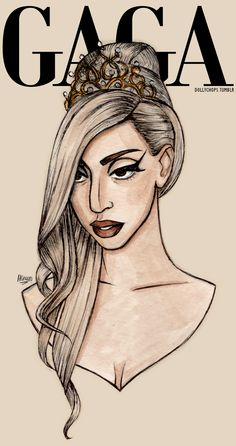 Lady Gaga fanart by the great Helen Green!