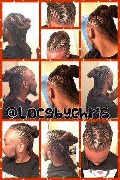 Loc Styles For Men, Dreadlock Styles, Dreads Styles, Black Men Hairstyles, Dreadlock Hairstyles, Dread Braids, Beautiful Dreadlocks, Two Strand Twists, Starter Locs