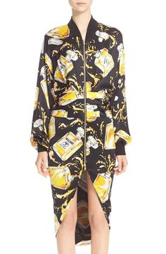 Moschino Perfume Print Dress Satin Dress available at #Nordstrom