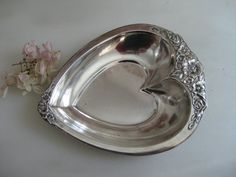 Show Mother where your heart is ....Heart shaped dish for Mother Dearest by VintageVagabondToo on Etsy