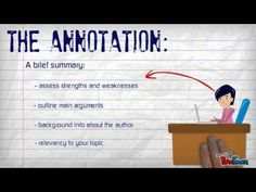 What's an annotated bibliography? - YouTube