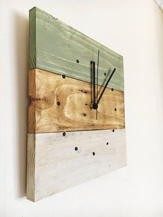 Wall Clock Wooden Wall Clock Reclaimed Wood Wall Clock Wall