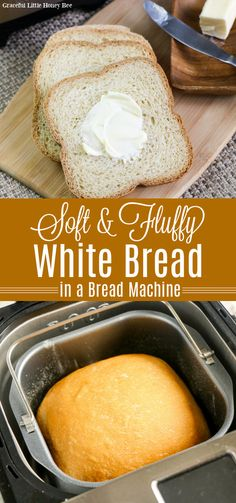See how quick and easy it is to make a loaf of fresh homemade white bread in your bread machine that will melt in your mouth and makes the perfect side dish to any meal. Find full recipe details at gracefullittlehoneybee.com #bread #breadmachine #homemade White Bread Machine Recipes, Best Bread Machine, Bread Maker Machine, Bread Maker Recipes, Yeast Bread Recipes, Simple Bread Recipe For Bread Machine, Soft White Bread Recipe Bread Machine, Bread Machine Recipes Healthy, Bread Machine Rolls