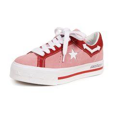 dca8bdb060b Converse X Mademe One Star Lift Platform Sneakers