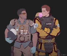I'm a Bastard — sun-stark: Lion and Doc 😏 Give it more notes. Rainbow Six Siege Memes, Rainbow 6 Seige, Rainbow Six Siege Art, Tom Clancy's Rainbow Six, Rainbow Art, Character Poses, Character Concept, Character Art, Character Design