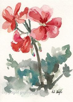 Original 5x7 Watercolor Flower Painting by GrowCreative on Etsy
