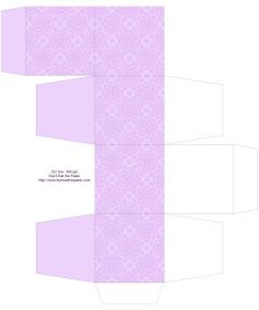 Don't Eat the Paste: Eyelet Lace Decorated Printable Boxes