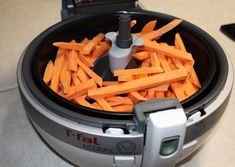 This is a simple T-fal Actifry Sweet Potato Fries recipe to use in a T-fal Actifry. The Actifry is an easy to use device for low-fat cooking. Sweet Potato Fries Healthy, Air Fryer Sweet Potato Fries, Making Sweet Potato Fries, Sweet Potato Wedges, Sweet Potato Recipes, Low Fat Cooking, Healthy Vegan Snacks, Healthy Eating, Recipes