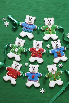 Polar Bear Sugar Cookies