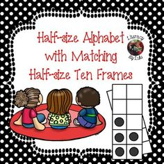Matching Alphabet and Ten Frames Number Line-Half-size! from Literacy by Lulu on TeachersNotebook.com -  (38 pages)  - Half-size alphabet with vowels, matching ten frame number line