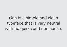 Gen Typeface on Behance