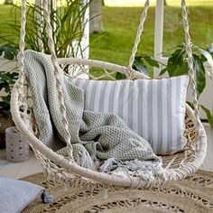 Macrame Swing Hammock Chair - Natural or Black Indoor Hammock, Hammock Swing Chair, Swinging Chair, Swing Chairs, Macrame Hanging Chair, Hanging Chairs, Leather Recliner Chair, Leather Chairs, Swivel Chair