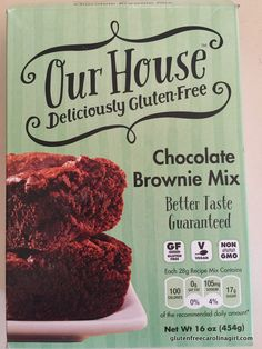 Our House Deliciously Gluten Free Chocolate Brownie Mix #glutenfree
