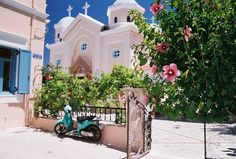 #Kos, #Greece .I painted a picture of this church. It had an amazing interior. Alan Jenkins.