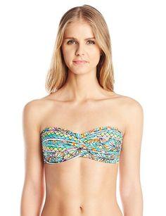 Trina Turk Women's Bora Bora Twist Bandeau Bikini Top - Summer Swimwear #fashion #summer2015
