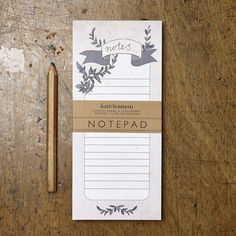 Katie Leamon Notepad | Floral