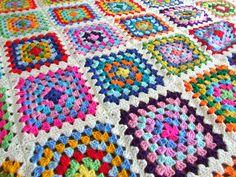 Granny Square afghan, Flickr