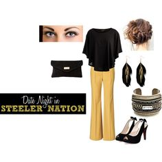 """Date Night in STEELER NATION"" by kmallory84 on Polyvore"
