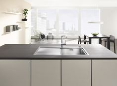 Blanco Sink | Divon-IF Series Kitchen Sink, Kitchen Design, Modern, Home Decor, White People, Trendy Tree, Decoration Home, Design Of Kitchen, Room Decor