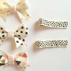 Hair Clips Hair Accessories Hair Ribbons Ribbon Bows Baby Hair Clips Baby Hair Bows Girl Hair Bows Summer Bows Summer Clips(Etsy のBitsyBlossomより) https://www.etsy.com/jp/listing/385823242/hair-clips-hair-accessories-hair-ribbons