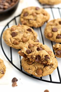 Flourless and Healthy Peanut Butter Breakfast Cookies
