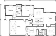 Versatile Floor Plan   Single Storey   Three Bedroom Home   Home Design House Plans, New Homes, Floor Plans, Layout, House Design, Flooring, How To Plan, Range, Bedroom