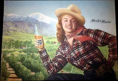 Marilyn in a calendar for Mission Orange Drink published in 1953.