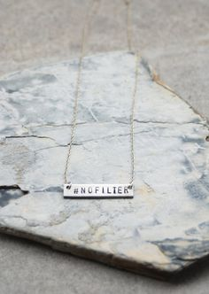 Silver NOFILTER Necklace by BangupBetty on Etsy