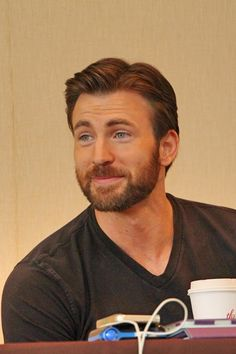 Chris Evans. I don't like too much beard on a guy. Except for him. It look handsome him. More beard please!!!chris!!