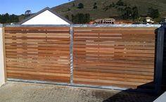 Standard wooden gate - maybe blue?