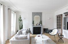 Séjour Appartement parisien- GCG ARCHITECTES