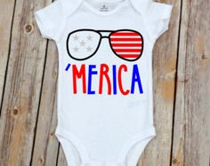 Merica Onesie for Baby Boy Boy Onesie Baby by YouNameItMonogram