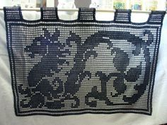 Dragon Filet Wall Hanging, Table Runner, Curtains