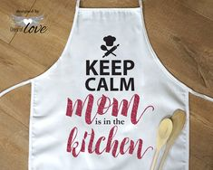 """Personalized Apron for Mother's Day Gift, Birthday Gift for Grandma, Mother in Law Gift - Funny Aprons for Women """"Keep Calm"""" Cooking Apron Birthday Gifts For Grandma, Grandma Gifts, Funny Aprons, Baking Apron, Kitchen Aprons, Kitchen Gifts, Custom Made Gift, Personalized Aprons, Mother In Law Gifts"""