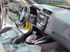 Interior of the all-new 2014 Kia Soul at the New York International Auto Show