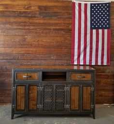 CollectiveThe Burton Industrial Media Console Vintage Industrial Furniture #061#affiliate