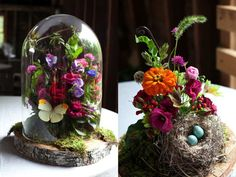 I recently copied this idea and made them with preserved flowers, it turned out…