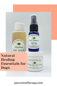 Dog Healing Essentials. One Healing Gel for Dogs in 2 oz or 4 oz size jar, one Herbal Ear Wash 4 oz and one Pet Dental Spray 1oz. Handcrafted by holistic veterinarian, Dr. Deneen Fasano. Handmade with all natural and organic ingredients, aloe, herbs and essential oils. Chinese Herbs, Essentials, Ear Cleaning, Dog Quotes, Pet Products, Natural Healing, Dog Stuff, Pet Care, Home Remedies