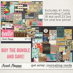 reedbarrette getartsy journalingcards preview 44 FREE Journaling Cards for your Summer Staycation!