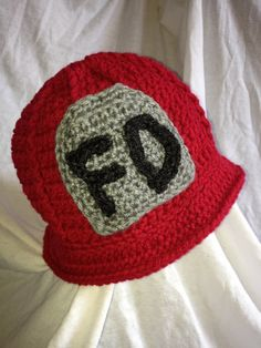 This would be adorable for the baby whose daddy is a fireman! Crocheted Fireman Hat & Boots 6-9 months by ChippersCreations on Etsy, $40.00