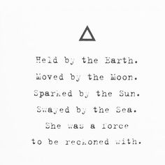 'Held by the Earth.  Moved by the Moon.  Sparked by the Sun.  Swayed by the Sea.  She was a force to be reckoned with.' Rise Sister Rise - Rebecca Campbell  Click the link to join my free 10 day self love challenge. #heal #health #selflove
