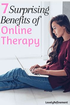 There are quite a few differences between online therapy and traditional therapy. Learn about the benefits of online therapy here. Mental Health Art, Mental Health Therapy, Mental Health Awareness, Anxiety Therapy, Anxiety Tips, How To Control Emotions, Have Good Day, Lack Of Motivation, Understanding Anxiety