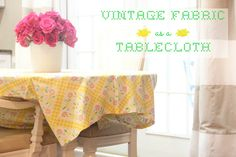 BED SHEET REPURPOSED AS A TABLECLOTH   The Rustic Boxwood   vintage, dining table, pink, cane chairs, DIY, tablescape