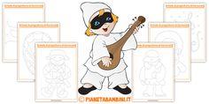 Schede di pregrafismo di Carnevale per la scuola dell'infanzia Diy For Kids, Montessori, Family Guy, Fictional Characters, Art, Fantasy Characters, Griffins
