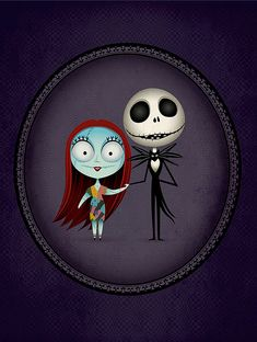 Nightmare before Christmas Jack and Sally by Jerrod Maruyama